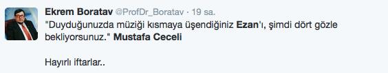 Mustafa Ceceli ezan okudu olay oldu bu nasıl makam!