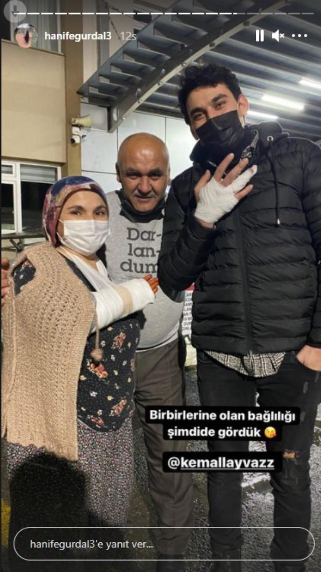 Hanife Gürdal ve ailesinin kar macerası hastanede bitti