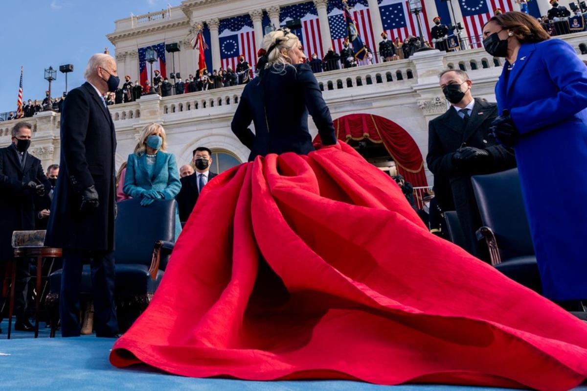 Dünyaca ünlü yıldızlar, yeni ABD başkanı Joe Biden'ı törende yalnız bırakmadı! Lady Gaga kıyafetiyle mesaj verdi