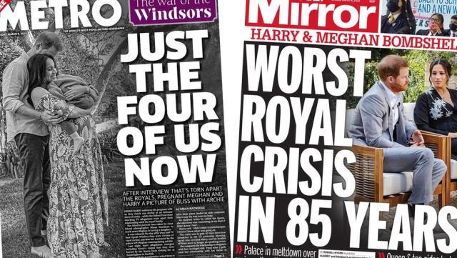 İngiliz basını Meghan Markle ve Prens Harry'nin sözlerini konuşuyor: Son 85 yılın en büyük kraliyet krizi