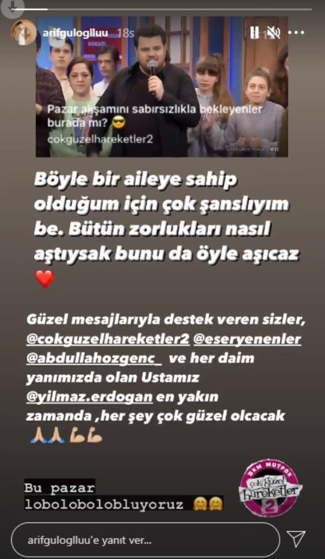 Çok Güzel Hareketler Bunlar 2'nin oyuncuları kansere yakalanan Arif Güloğlu'na destek verdi